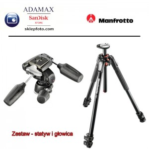 MANFROTTO Zestaw MT190XPRO3 + MN804 RC2 - Głowica i statyw